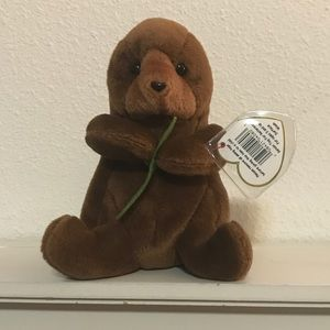 Seaweed the otter Ty beanie baby. Mint